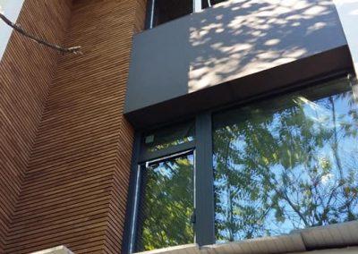 Дъбова фасадна обшивка 40 х 20 мм, омаслена в цвят Орех
