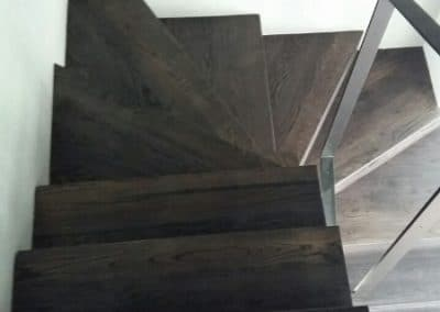 Стъпала цял ламел с чела на герунг, качество Селект, омаслени, цвят Черен
