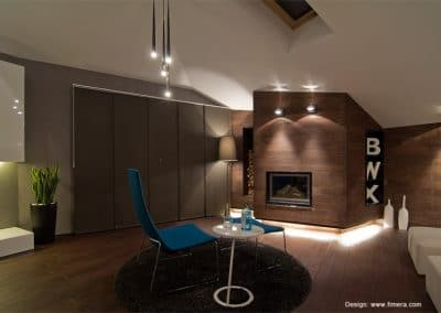 Дюшеме дъб 120 мм по под и стени по проект на Фимера Дизайн