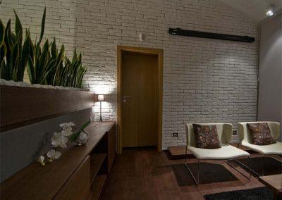 Дюшеме дъб 120 х 20 х 600 - 2000 мм, рачество Рустик, омаслен цвят Палисандър, ваканционен апартамент в гр. Банско по проект на Фимера Дизайн