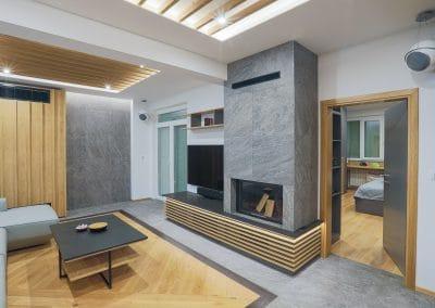 Апартамент в гр. София по проект на студио Karch - ширина 120 мм, качество Натюр, цветове натирал и Ебонит