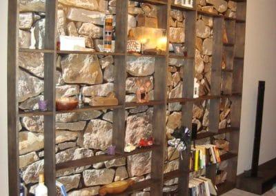 Паркет дъб масив с ширина 150 мм, качество Рустик, фабрично структуриран с четки, цвят Сребърна патина, етажерка дъб маси по проект, омаслена Ебонит