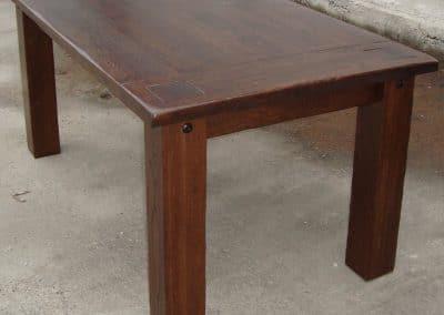 """Дъбова маса ръчно състарена, цвят """"Гърция"""""""