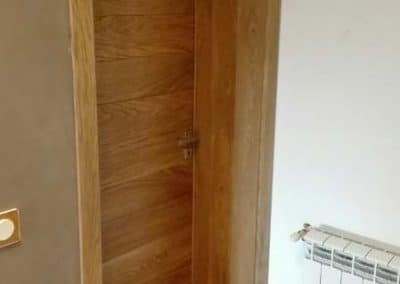 Врата дъб масив с ламели 180 мм омаслена цвят Прозрачно