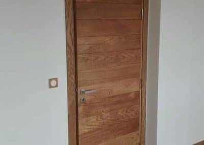 Врата дъб масив с ламели 180 мм омаслена цвят Натурал