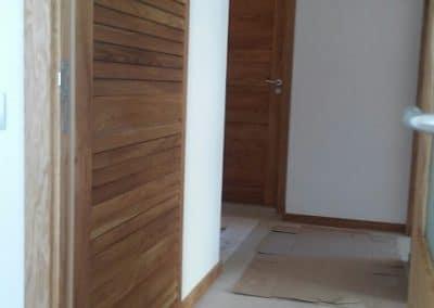 Плъзгаща врата с ламели тип щора омаслена