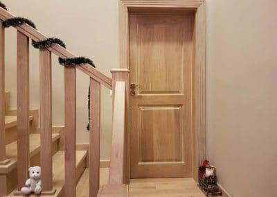 """Дъбова врата тип таблена, обработка омаслена цвят """"Избелено"""""""