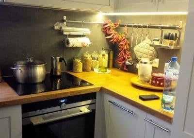 Дъбов плот за кухня омаслен в цвят Орех