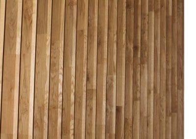 Дъбова декоративна стена /парапет/ 120 х 20 мм, качество Рустик, омаслена в цвят Натурал