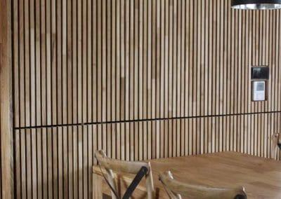Дъбова декоративна стена 40 х 20 мм, качество Рустик, омаслена в цвят Натурал