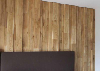 """Дъбова декоративна стена с различни дебелини, качество Рустик, омаслена в цвят """"Натурал"""""""
