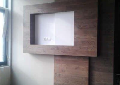 """Дъбова обшивка за стена с ширина 150 мм, качество Рустик, обработка масло в цвят """"Палисандър"""""""