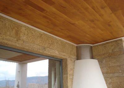 Дъбова обшивка по таван 120 мм ширина, качество Рустик, омасленa в цвят Дъб