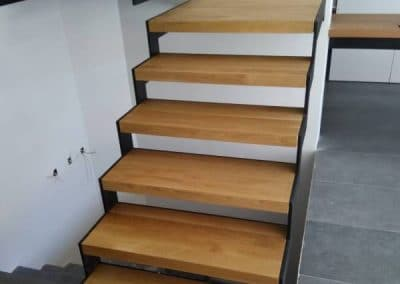 Стъпала дъб качество Селект, омаслени, дебелина 60 мм, проект на LP Consult/Solid oak stairs, quality select, oiled, thickness 60 mm, designed by LP Consult