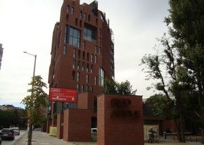 сграда Red Apple, София - 4000 кв.м.  дъбово дюшеме 150 х 20 х 600 - 2000 мм, качество Селект, прозрачен лак мат