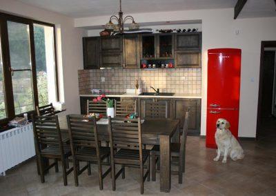 """Дъбова маса и кухня, омаслени, цвят """"Ебонит"""""""