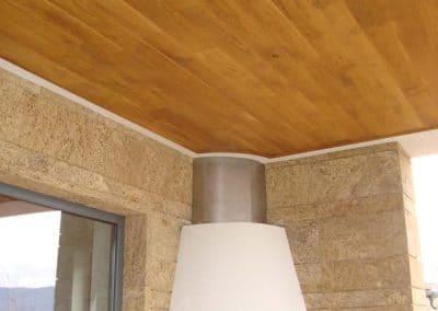 Дъбов софит с ширина 120 мм, качество Рустик, омаслен в цвят дъб