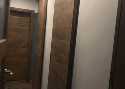 "Врата тип ""Хамбар"" ламелна, омаслена/Oak barn door, oiled"