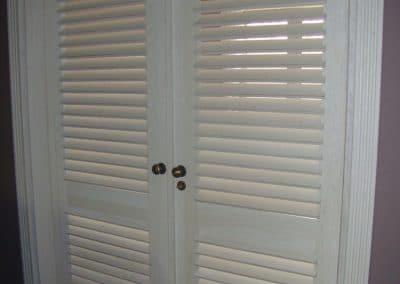 Дъбова врата, обработка бяло лак