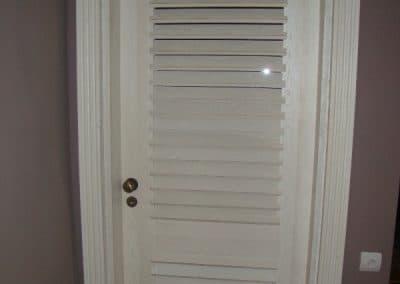 """Врата дъб масив тип """"Щора"""", избелена, състарена, финиш лак"""