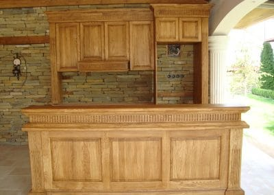 Oak cookhouse, oiled, color Teak