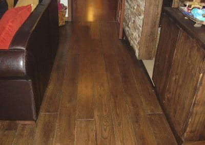 Solid oak flooring 150 mm width, Rustic quality, oiled, color Dark Rosewood tree