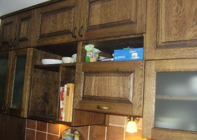 Oak kitchen cabinet, oiled, color Antique Oak