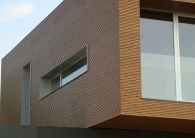 Oак paneling for facade 35 + 10 mm width, quality Rustic, oiled, color Oak
