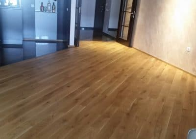 Solid oak flooring 120 mm width, Rustic quality, oiled, Transparent